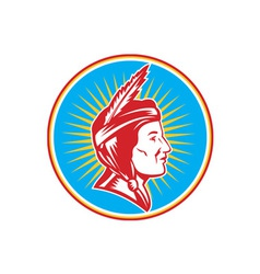Native American Indian Squaw Woman vector image vector image