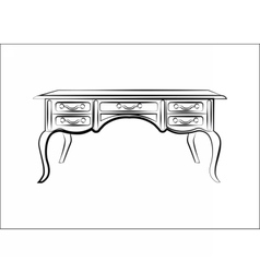 Classic table furniture with luxury ornaments vector image vector image