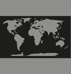 dotted world map isolated on white background vector image
