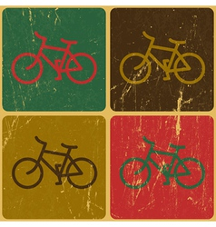 retro bicycles background vector image