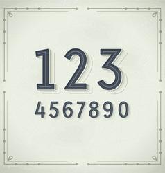 Retro Digits Vintage Typography vector image