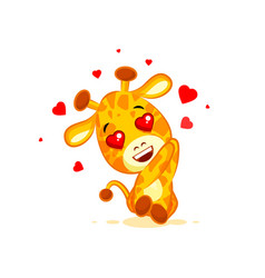 emoji hello hi in love hearts you are cute vector image vector image