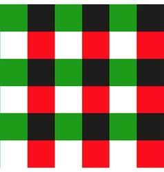 Green Red Black Chessboard Background vector image vector image