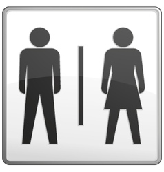 male and female toilet sign vector image