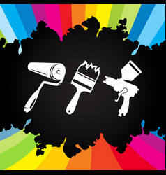 paint tool vector image vector image