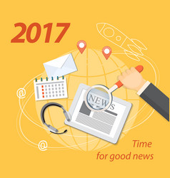 2017 time for good news vector image