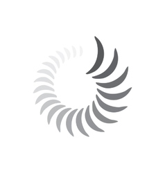 Abstract geometric circle waves icon simple style vector image