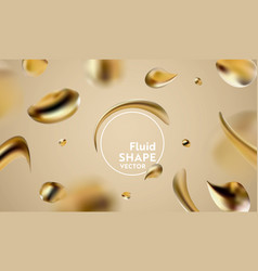 abstract golden liquid fluid background banner vector image