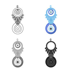 Amulet nazar icon in cartoon style isolated on vector