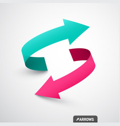 arrows logo concept double arrow symbol 3d icon vector image