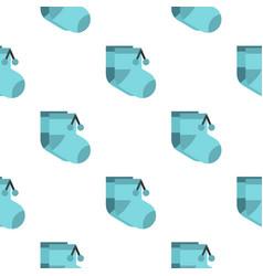 Baby socks pattern flat vector