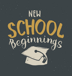 back to school calligraphic lettering calligraphy vector image