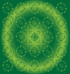 Beautiful Circle Green Light Floral Background vector image