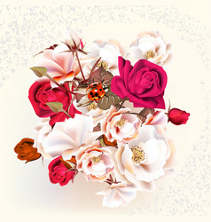 Beautiful roses in pastel and watercolor style vector