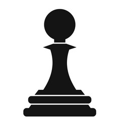 Black pawn icon simple style vector