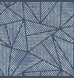blue grunge triangle pattern vector image