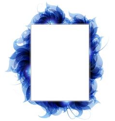 Blue petals background vector