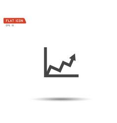 business graph icon logo eps vector image