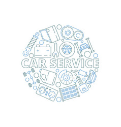 car service background mechanical automobile vector image