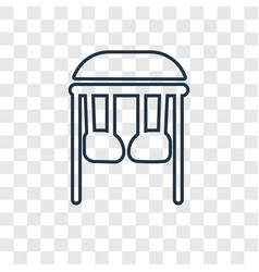 Childhood concept linear icon isolated on vector