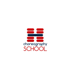 choreography school sign vector image