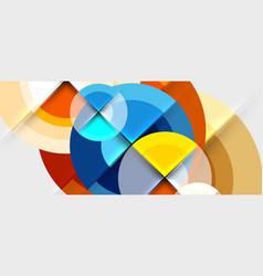 Circular geometrical design template vector