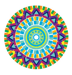 colorful abstract circle design vector image