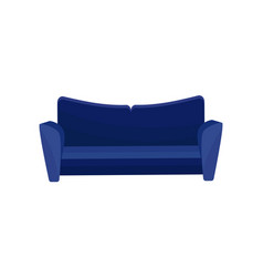 Comfortable sofa blue modern couch living room vector