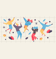 concept with dancing people vector image