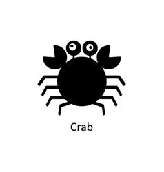 crab icon silhouette icon vector image