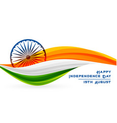 Creative indian flag happy independence day design vector