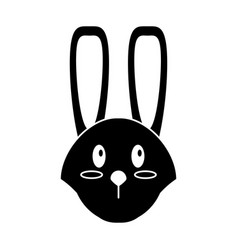 cute easter face bunny pictogram vector image