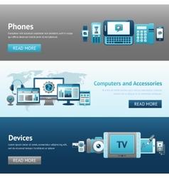 Devices Design Banner Set vector