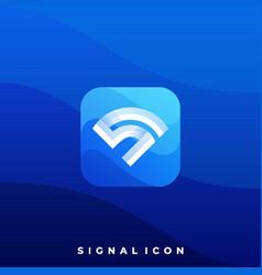 digital media icon signal design template vector image