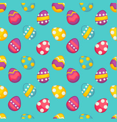 easter holiday colored eggs with ornament seamless vector image