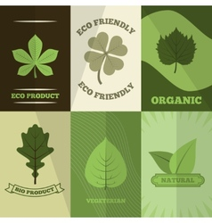 Ecology icons poster print vector
