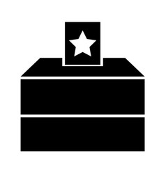 Election polling box icon silhouette style vector
