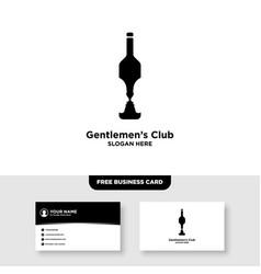 Gentlemen bar logo and business card template vector