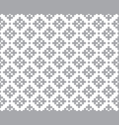 Gray abstract cross stitch pattern seamless vector