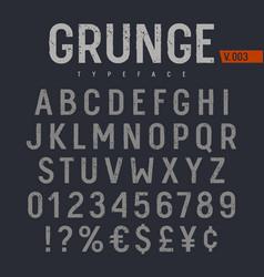 Grunge font 005 vector