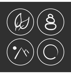 hand drawn zen icons vector image