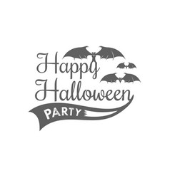 happy halloween logotype vector image