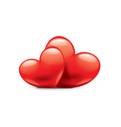 heart sign for valentine day vector image