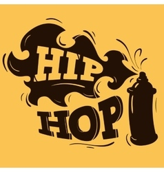 Hip Hop Label Design With A Spray Balloon vector image