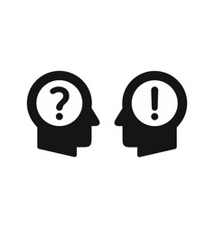 human heads profiles simple black icons with vector image