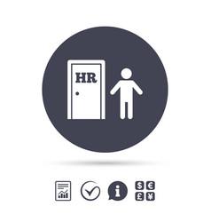 Human resources sign icon hr symbol vector