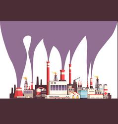 Industrial flat background vector