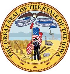 Iowa seal vector