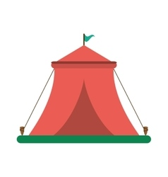 Isolated tent for camping design vector