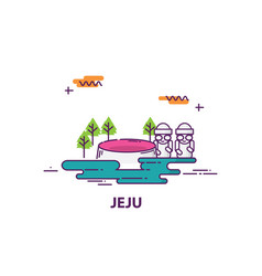 Jeju island in south korea vector